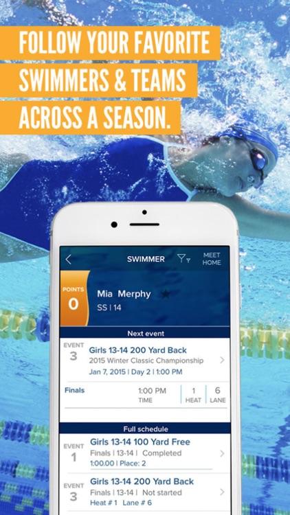 Meet Mobile: Swim app image