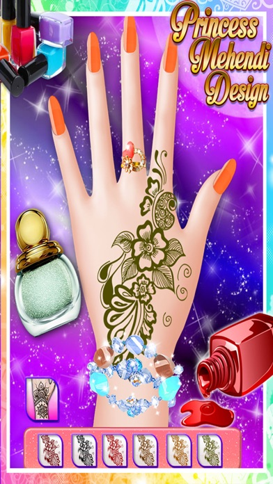 Princess Mehndi Designs Nail Art Salon Girls Game App Price Drops