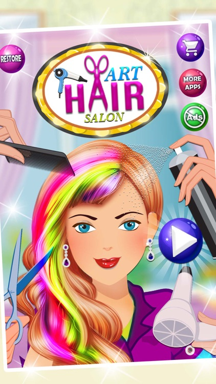 Girls Hair Salon - Hairstyle & Makeup Party 2017 screenshot-3