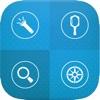 Handy Tool Set Free - 1工具包与指南针,手电筒,尺子,放大镜(放大镜) ,镜像和弧量角器6 !