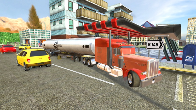 Uphill Cargo Truck Driving 3D - Drive Cargo Truck And Oil Tanker in Offroad & City Environment screenshot-3