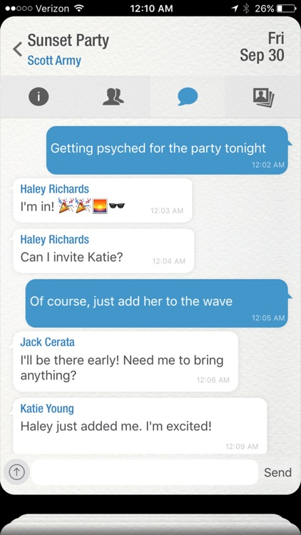 Wave - The Social Network For Events screenshot-3