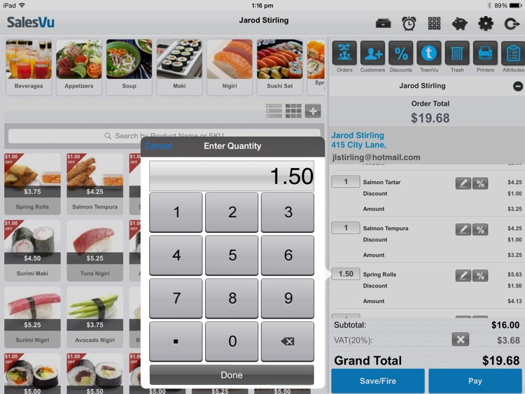 SalesVu POS for iPad