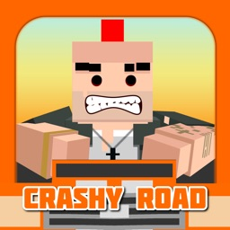 Crashy Road - Flip the Rules crash into the cars!