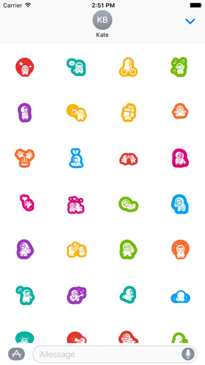 Baby Stickers Pack for iMessage screenshot-3
