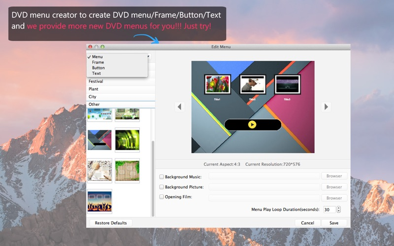 DVD Creator - 刻录MP4到DVD