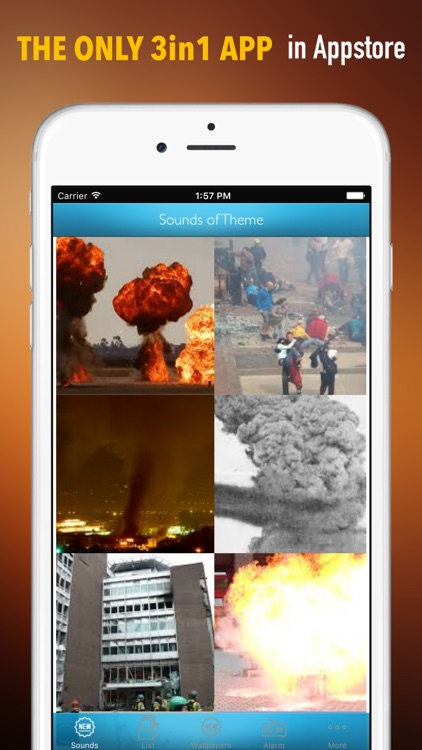 Explosion Sounds and Wallpapers: Theme Ringtones and Alarm screenshot-0