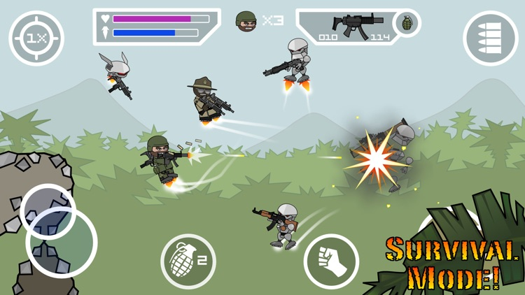 Doodle Army 2 : Mini Militia screenshot-2