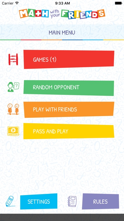 Math with your Friends Game