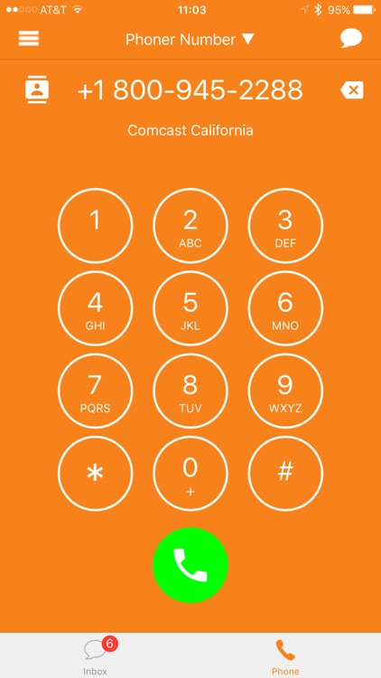 Phoner 2nd Phone Number Text