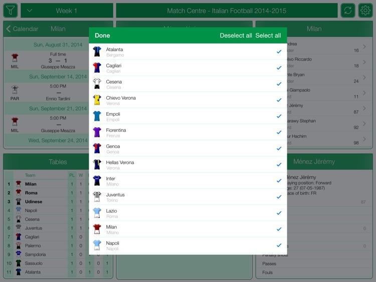 Italian Football Serie A 2014-2015 - Match Centre screenshot-3