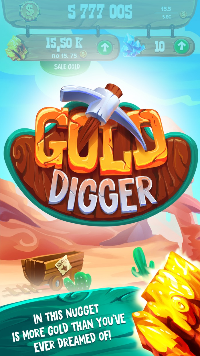 Gold Digger - the best clicker in the Wild West Screenshot