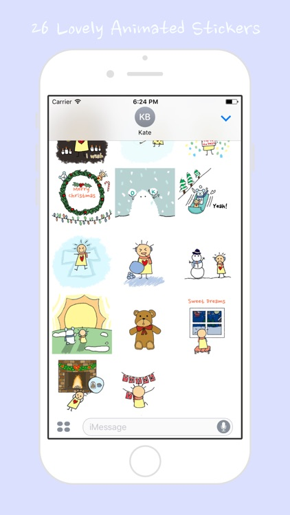 Winter Days with Merrylove (Animated Stickers)