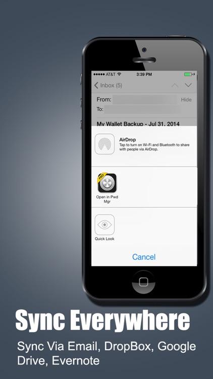Password Manager Fingerprint Password Secure Vault screenshot-4