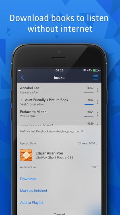Cloudbeats: audiobooks player screenshot-3