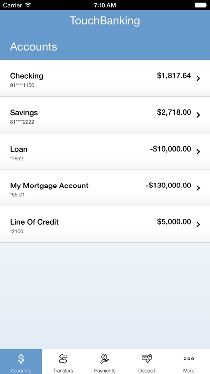 TouchBanking screenshot-2