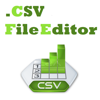 Csv File Editor with Import Option from Excel  .xls, .xlsx, .xml Files
