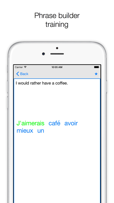 Phrases ENGLISH-FRENCH screenshot four