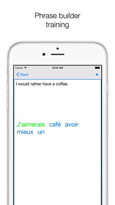 Phrases ENGLISH-FRENCH screenshot four