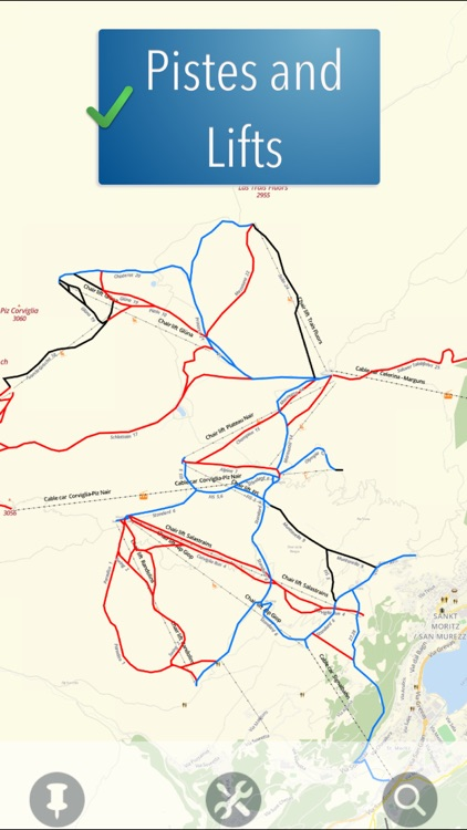 Sankt Moritz Ski Map screenshot-1