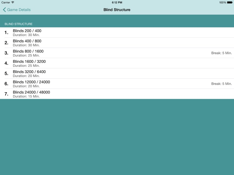 Poker Blind Timer HD Lite screenshot-3