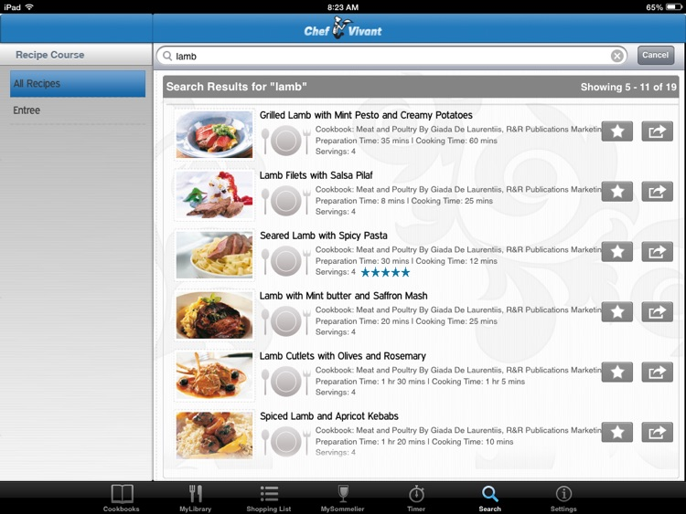 Chef Vivant – Customizable, Interactive eCookbooks screenshot-4