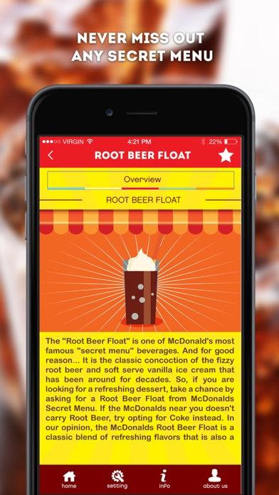Screenshots of Secret Menu for McDonald's - McD Fast Food Restaurant Secrets for iPhone