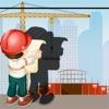 活动! 影游戏为孩子们学习和建筑工地打