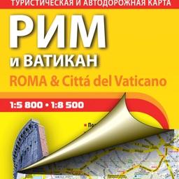 Rome. Tourist map.