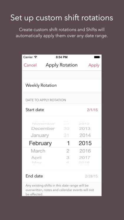 Shifts – Shift Worker Calendar screenshot-4