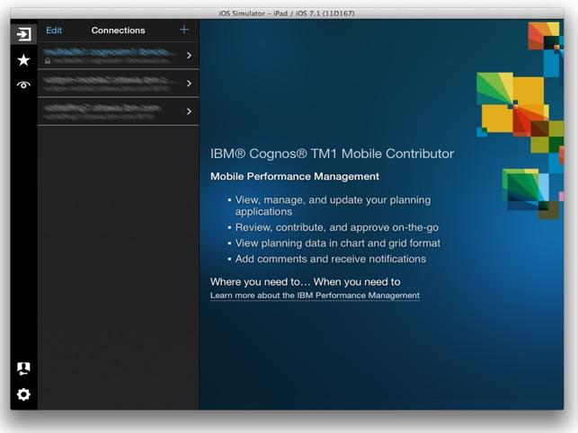 IBM Cognos TM1 Mobile Contributor on the App Store