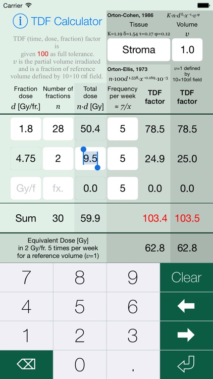 TDF Calculator