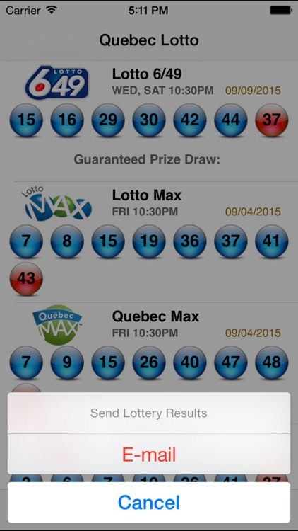 Quebec Lotto - Lotto Angel screenshot-4
