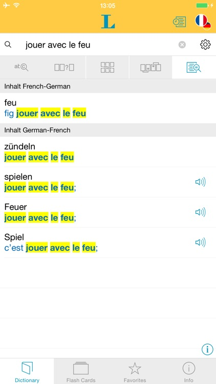 French <-> German Talking Dictionary Professional