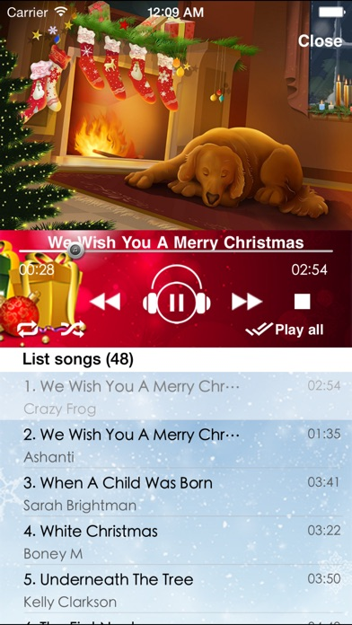screenshot 1 for best christmas songs - Best Christmas Songs List
