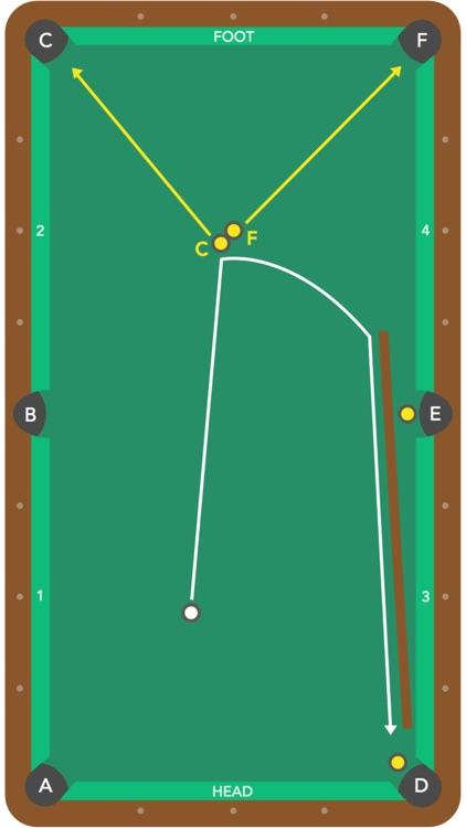 Pool Trick Shot Diagrams screenshot-4