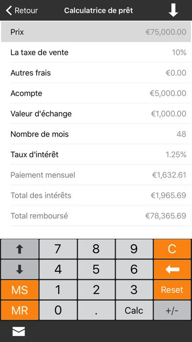 Screenshot #2 pour Calculatrice Financière +