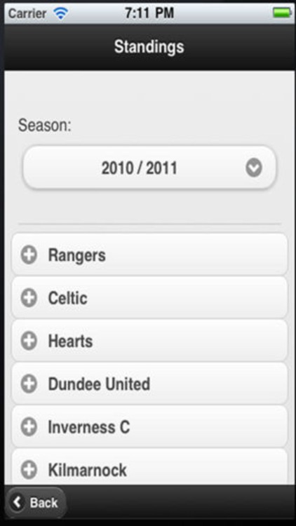 Scottish Football App