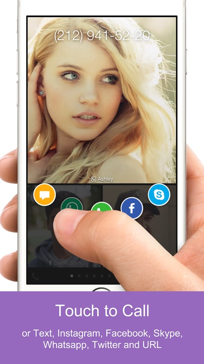 One Touch Dial - T9 speed dial call your favorite contacts and quick photo dialer app launcher for social networks. screenshot-2