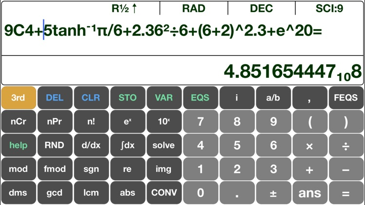 Scientific Calculator EQ7A (Free With Ads)