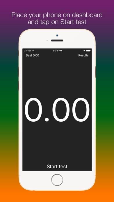 Screenshot #5 for SpeedUp - Acceleration test 0-100 kmh 0-60 mph