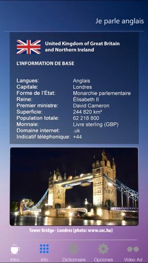 Aplikacja Je Parle Anglais Apprendre L Anglais Guide De