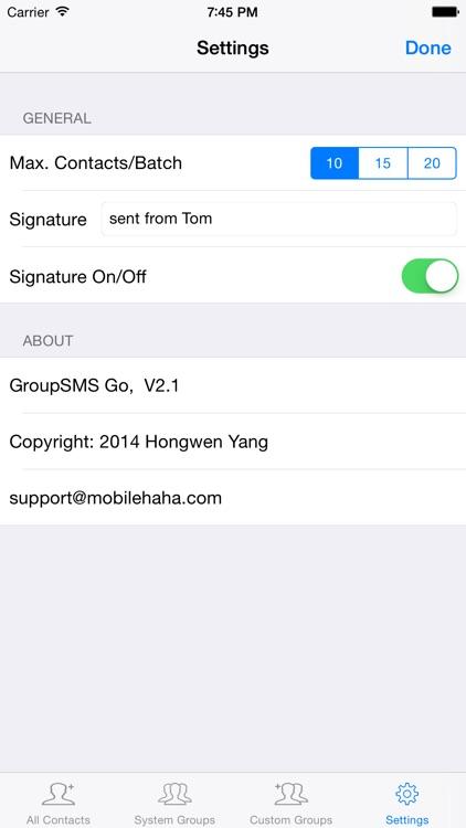 GroupSMS Go screenshot-4