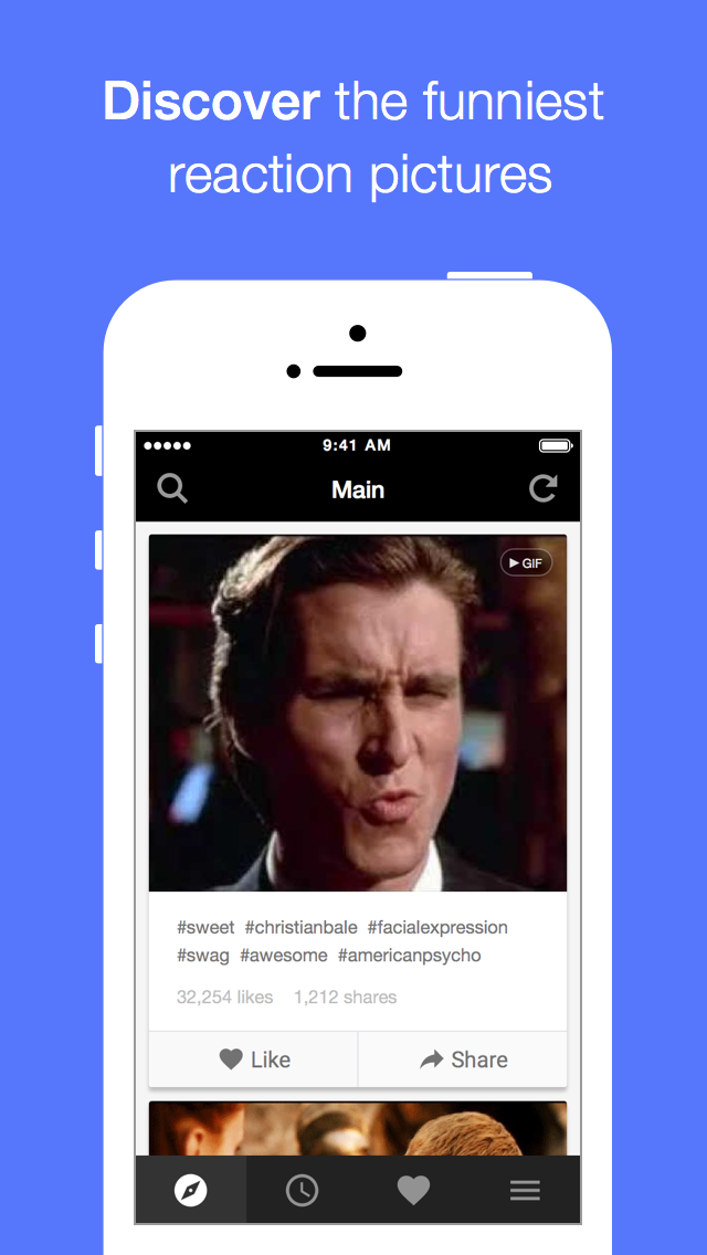 Screenshot #1 pour Memeful - Animated GIF and Reaction face for SMS