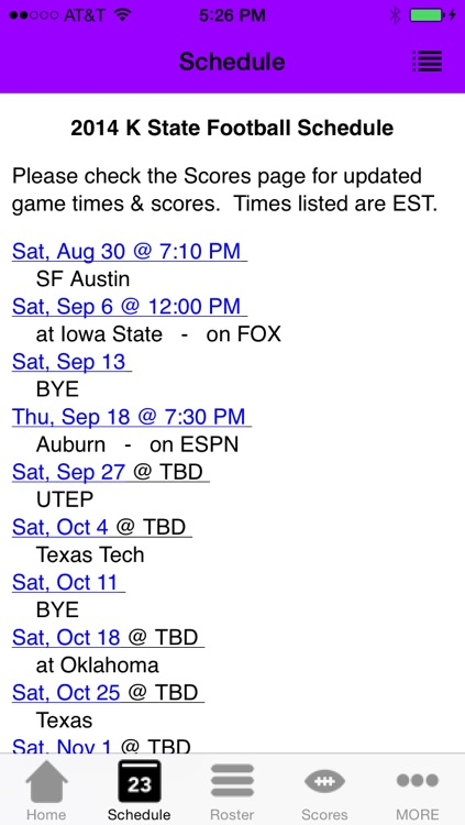 College Sports - Kansas State Football Edition