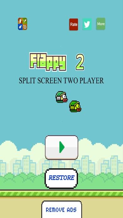 Flappy 2 Players - 彼らは鳥をピクセルのスクリーンショット1