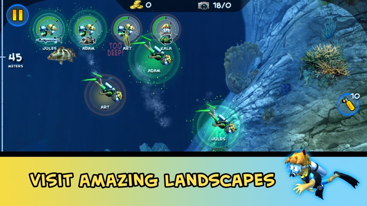 DiveMaster - Guide scuba divers in the best underwater deep sea diving adventure game, collect and share photos about ocean animals screenshot-1