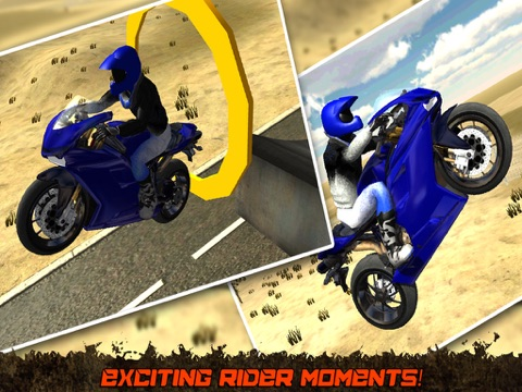Crazy Motorcycle Stunt Ride simulator 3D – Perform Extreme Driver Stunts with Motor Bike on Dirt-ipad-0
