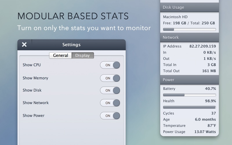 StatsBar Screenshot