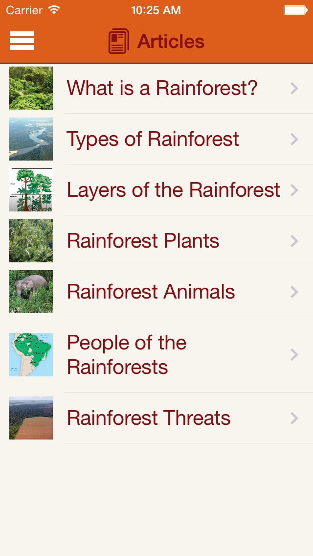 Britannica Kids: Rainforests Screenshot on iOS